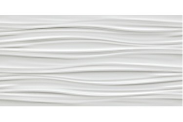 Керамическая плитка Atlas Concorde 3D Wall 3D Ribbon White Matt. (48), 40X80