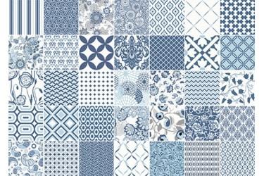 Керамическая плитка Vallelunga Colibri Comp.blu