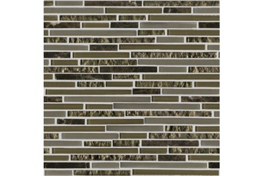 Керамическая плитка L Antic Colonial Mosaics Collection Eternity Mini Strip Emperador