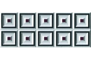 Керамическая плитка Cerasarda Parentesi/Quadra Fascia Cornice Grafite 8X20